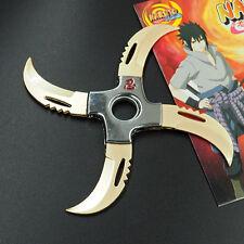 Anime Naruto Sasuke Logo Finger Spinner Alloy Shuriken Rotatable Cosplay Darts