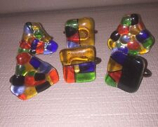 VTG NAPKIN RING HOLDERS Candy Jolly Rancher Themed ~ SET OF 6