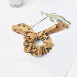 Women Bow Hair Tie Scrunchie Ponytail Holder Ring Rabbit Ear Hairband Christmas