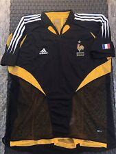 Rare 2001 Adidas FRANCE FFF Black Yellow Vintage Soccer Football Jersey SIZE XL