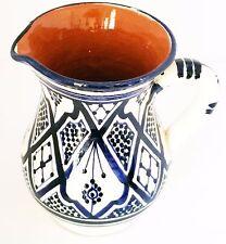 New listing Moroccan Pitcher Sangria Ceramic Jar Water Juice Cooler Beverage Dispenser