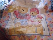 Cowboy Bear Boy and Girl Baby Quilt