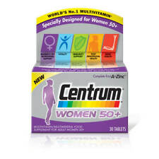 Centrum 50 Plus Multivitamin Tablets for Women, Pack of 30 BOXED