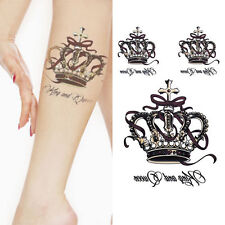 Removable Waterproof Temporary Tattoos Body Art Stickers King and Queen Crown