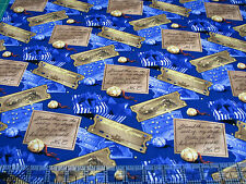1 Yard Quilt Cotton Fabric - Springs The Polar Express Ticket Bell Gift Toss