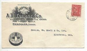 Advertising Cover A. B. JARDINE & CO. Hespler, Ontario - Circa 1935