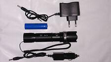 Swat Cree LED Taschenlampe mit Akku + inkl. Ladegerät und Zoomfunktion