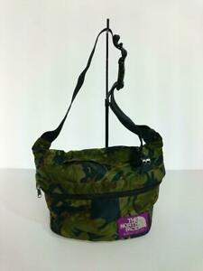 THE NORTH FACE PURPLE LABEL Waist Bag Khaki Camouflage Polyester NN7411N Used