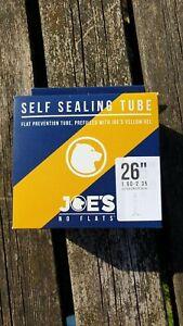 Joe's No Flats Yellow Gel Self Sealing MTB Inner Tube 26 x 1.90-2.35 Presta