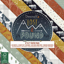 Dovecraft 6x6 - Lost & Found - 48 sheets Scrapbooking Cardmaking