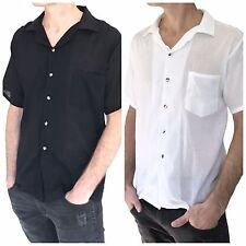 Men's Button Down Shirt 100% Cotton Shirt Thai Hippie Beach Yoga Top