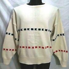 Vintage ORVIS Cotton Crewneck Pullover Nautical Sailor Men's Size Large Sweater