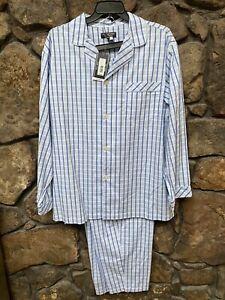 Roundtree & Yorke Blue Plaid 2pc Pajama Set Big&Tall XLT,2XT,2XB,4XB NWT