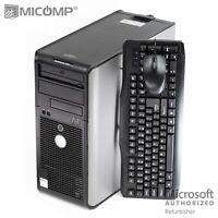Dell Optiplex Tower Computer Core 2 Quad 6GB RAM 500GB HDD DVD Windows 10 PC KM