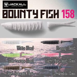 Jackall Bounty Fish 158 Fishing 4 Lure Set Topwater BlackBass 6 Colors Soft Bait