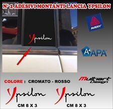 ADESIVI MONTANTI  PER LANCIA YPSILON , TUNING STICKERS PROFESSIONALI