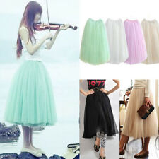 AU SELLER Bouffant 5 Layered Tulle Dancewear Wedding Party Skirt Dress dr097