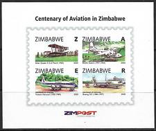 More details for zimbabwe 2020 centenary of aviation minisheet superb mnh