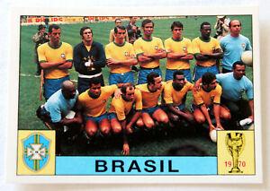 Panini Soccer Sticker #36 Brasil Line-Up Mexico 70 Pele World Cup Story 1990