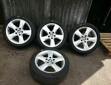 BMW 1 SERIES E87 4 ALLOY WHEELS WITH TYRES. 5 STUD, 5 SPOKE 17 INCH. BMW 6762889