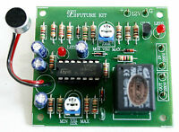 Sound Switch Controller Delay Time Off Relay 12VDC 10A IC LM324 Project [FA408]