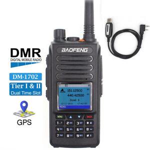 BAOFENG DM-1702 DMR Digital &Analog Walkie Talkies GPS 2-Way Radio Tier II +USB