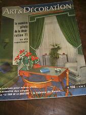 Art et Décoration N°156 1971 Faïences de Rouen Sièges anciens Cuisine Archi