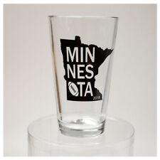 Minnesota Football 2018 Beer Glass, Gift 16 Ounce Pint Glass