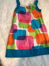 RARE EDITIONS MULTI COLOR GIRL'S DRESS SIZE 8 EUC