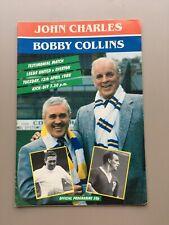 More details for 1988 leeds united vs everton - john charles & bobby collins testimonial brochure