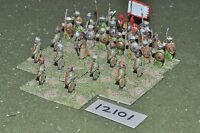 25mm medieval / saracen - infantry 30 figs - inf (12101)
