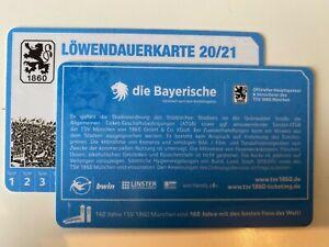 2 x 1860 München Löwendauerkarte Sammler Saison 2020/2021