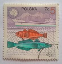 Poland stamps - Deep Sea Fishing 5 zloty - FREE P & P
