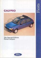 Ford Fiesta Mk 3 1.3 Calypso 1991 Original UK Sales Brochure Pub. No. FA1000