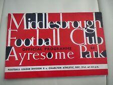Middlesbrough V  Charlton  1963/4