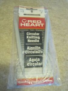 RED HEART Circular Knitting Needles 75 cm 8 mm Made in India NIP