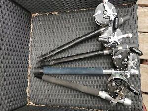 Lot de 4 moulinets de pêche Penn Longbeach 66 et 68 pêche au gros