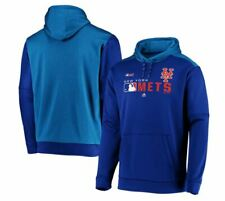 NY Mets Majestic Authentic MLB Hooded Pullover Sweatshirt Adult Medium New