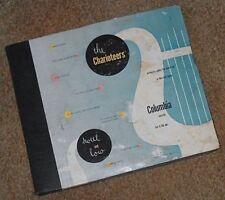 THE CHARIOTEERS 78 RPM 4 record set Columbia C-156 1940's Gospel Pop Black group