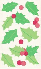 Mrs. Grossman's Giant Stickers - Vellum Holly - Christmas Flowers - 2 Strips