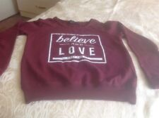 Girls Maroon Cotton Top Size 6 From Primark
