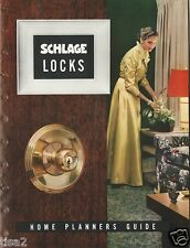 1952 SCHLAGE LOCKS Door Knobs Home Planners Guide SPACE AGE Designs Vint Catalog