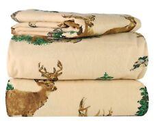 P 0000010E iece 100% Soft Flannel Cotton Bed Sheet Set Queen/King Size 4 Pc Set Deep Pocke