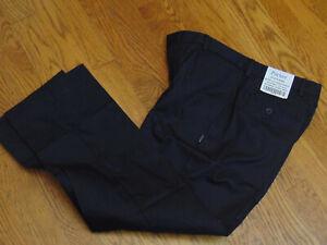 Parker School Uniform New Boys Husky Adjust Waist Flat Front Pants 30 - 32 X 27