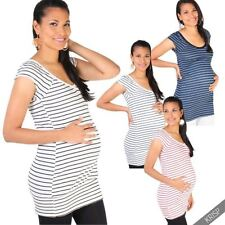 Viscose Tunic Machine Washable Striped Tops & Blouses for Women