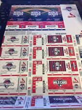 2015 NLDS FULL TICKET STRIP STUB ST. LOUIS CARDINALS VS CHICAGO CUBS GAME #1 #2