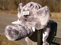 ELEPHANT HAT plush ADULT SIZE bama Alabama BIG AL COSTUME head mask cap gray