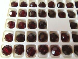 24 Preciosa round Crystal beads, 10mm Garnet
