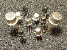 Qty 10: Vintage Unijunction Transistors by GE TI & Motorola NOS Working Xlnt!