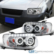 Ford 05-07 Escape Clear Dual Halo SMD LED DRL Projector Headlights Head Lamps